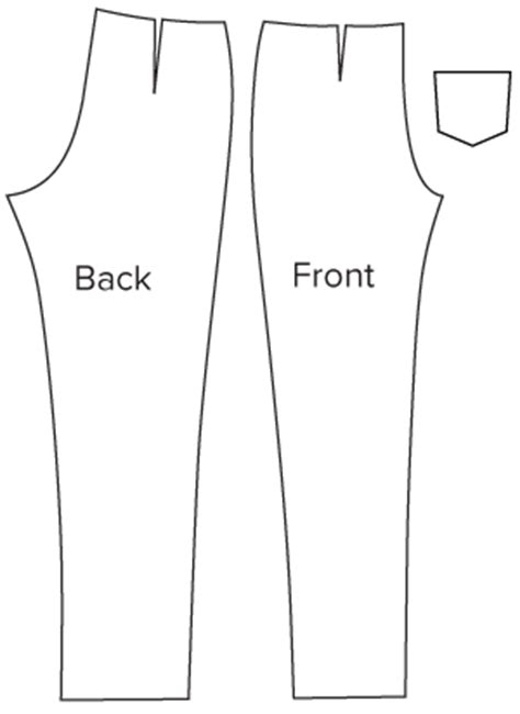 trouser pattern making pdf diagram of pattern pieces of slim cut trousers sewing