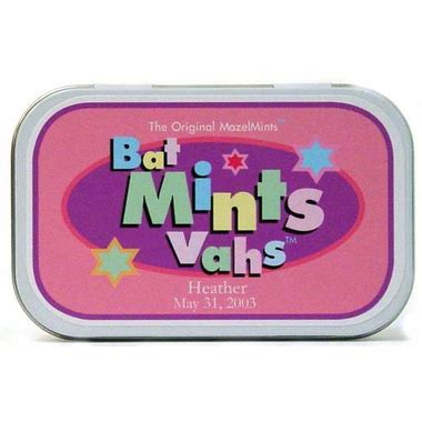 Bat Mitzvah Giveaways Personalized - personalized bat mitzvah favors mints