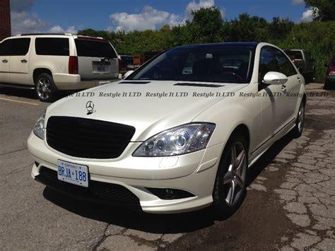 mercedes pearl white satin pearl white mercedes s550 vinyl car wrap car