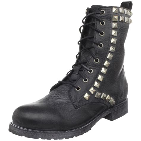 frye studded boots frye womens rogan studded lace boot in black lyst