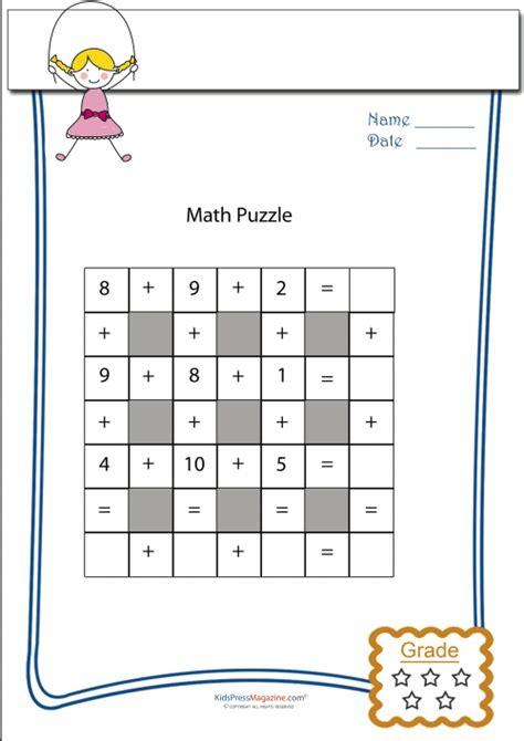 printable math puzzle games math puzzle 10m kidspressmagazine com