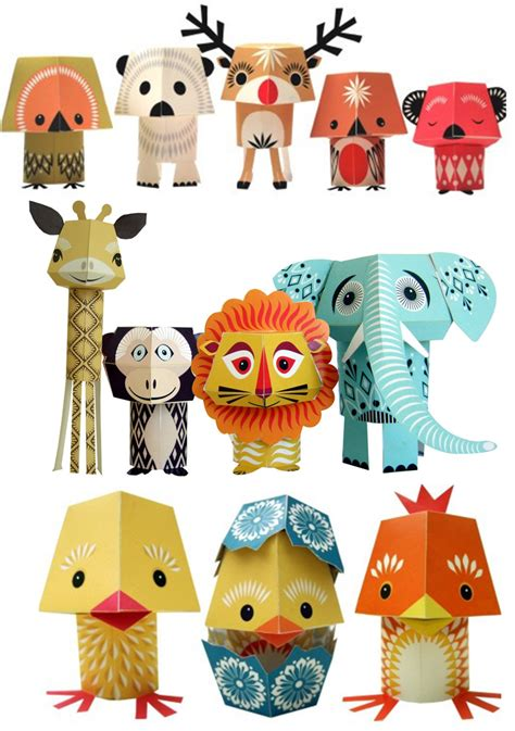 Paper Crafts Animals - paper craft animals by mibo http www mibo co uk no