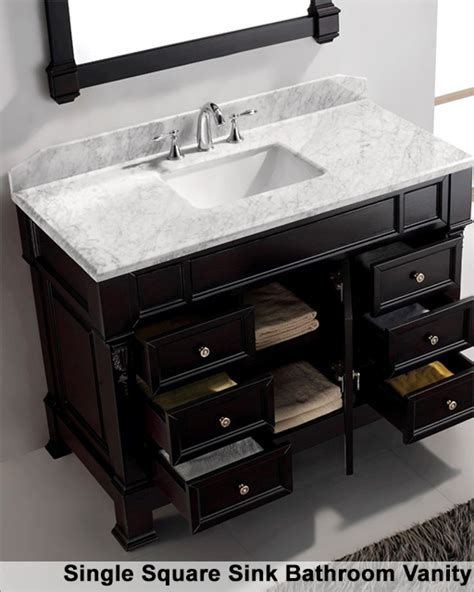 48in bathroom vanity virtu usa 48in single bathroom set huntshire manor vu ms