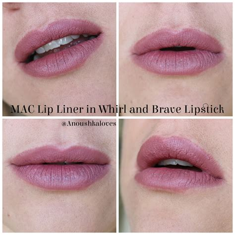 Mac Whirl lip combos mac whirl and brave anoushka
