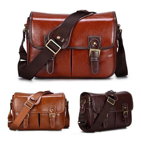 Y 3 Leather Messenger Bag by Roadfisher Pu Leather Retro Vintage Travel Slr