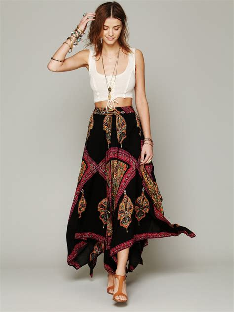 Fashion Freepeople by Crop Top And High Waisted Maxi Skirt Kewl