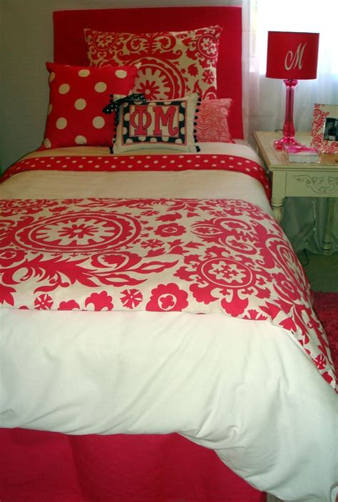 girls dorm bedding perfect bedding for a phi mu girl pinterest girls