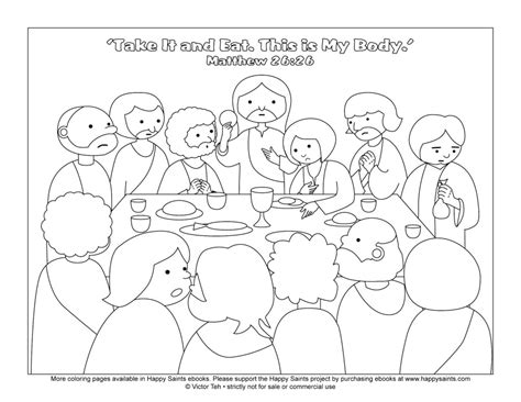 The Last Supper Coloring Page the last supper coloring page coloring home