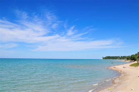 friendly beaches in michigan healthy lake huron clean water clean beaches