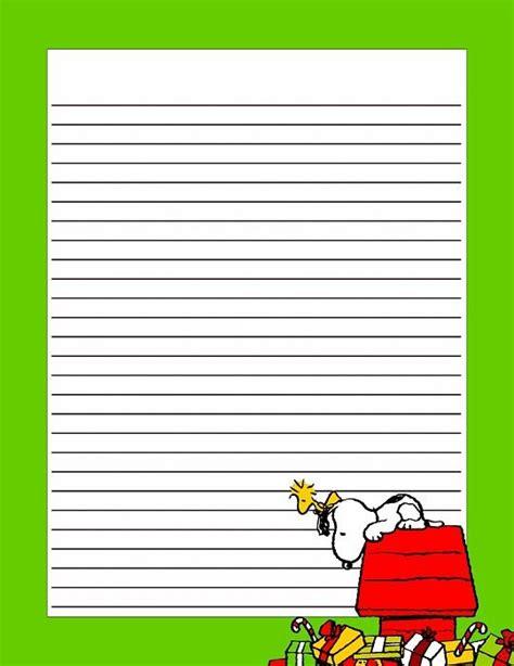 christmas snoopy christmas stationery  printable