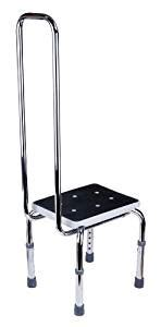 Step Stool For Elderly by Gah Alberts Adjustable Step Stool Handrail Support
