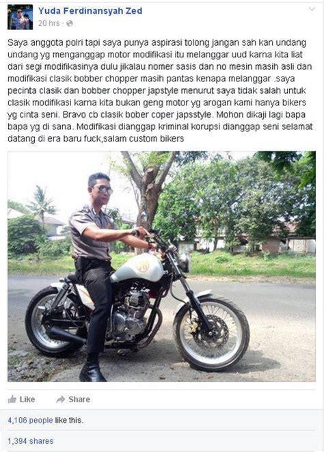 Uu Modifikasi Motor by Cintai Motor Kustom Klasik Anggota Polisi Minta Uu