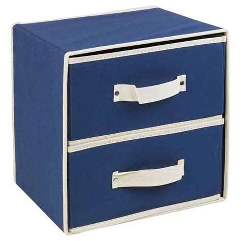 collapsible fabric 2 drawer storage boxes containers bits