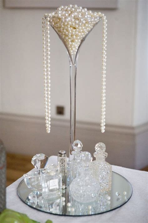 wedding centerpieces with pearls 1920s inspired pearl centerpiece g a t s b y b r i d e best pedestal
