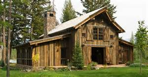 barn style home montana mountain retreat heritage restorations