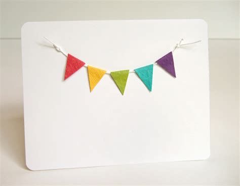 mini bunting for card mini bunting birthday invitation swartley