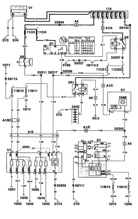volvo 960 1996 1997 wiring diagrams l out