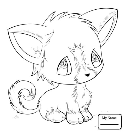Kawaii Animal Coloring Pages