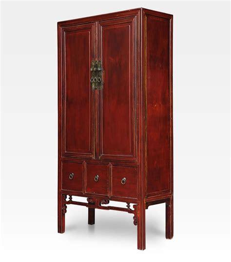 armadio cinese armadio cinese laccato rosso legno di olmo cod 0016