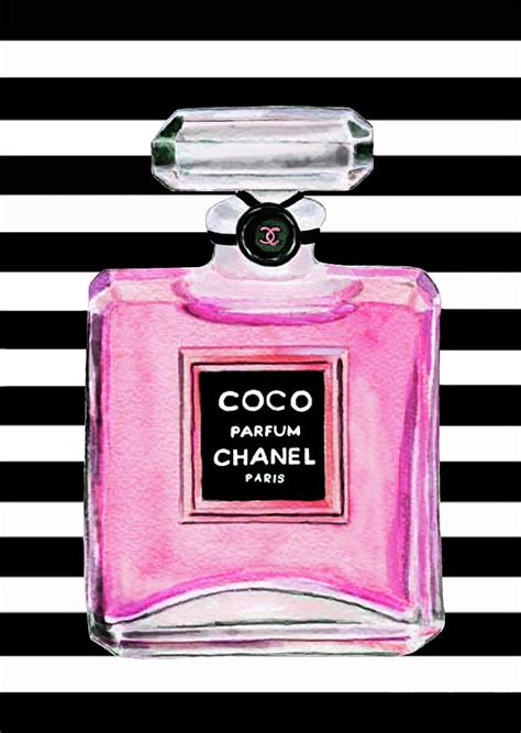 Channel Pink chanel pink perfume 1 painting by