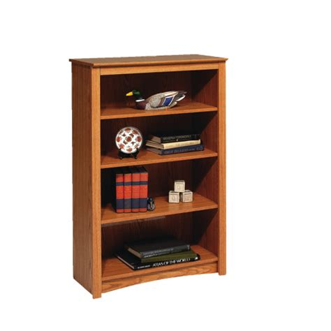 48 quot 4 shelf bookcase oak brown bookcases shelving