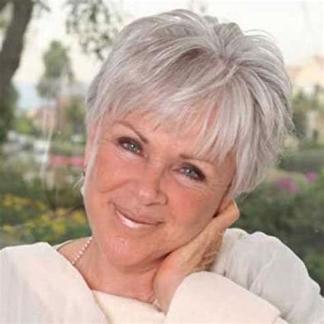 Gray Hair Styles For Women At 50 | short gray hairstyles for older women over 50 gray hair