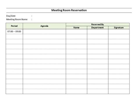 conference room reservation template meeting room reservation sheet this meeting