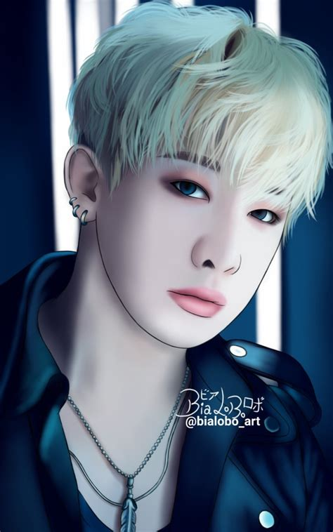 wonho monsta x fanart bybialobo by bialobo on deviantart