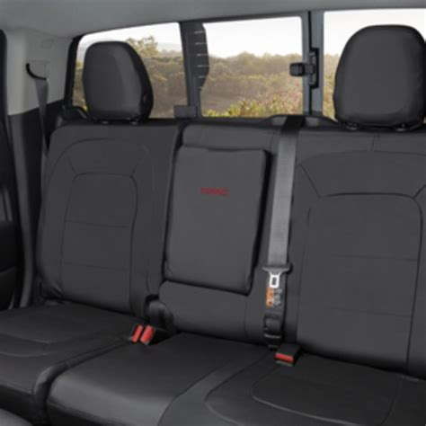 2016 gmc yukon seat covers 2016 protective rear fitted seat cover in black w