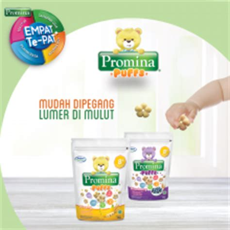 Promina Puffs Bluberry all on snack puffs for babies with new promina puffs