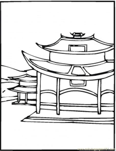Chinese House Coloring Page | chinese house drawing step by step cliparts co