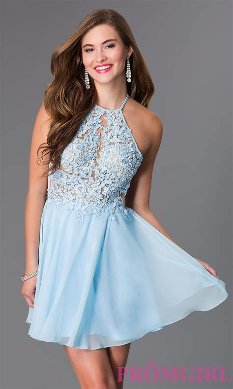 Dress Blue light blue open back dress promgirl