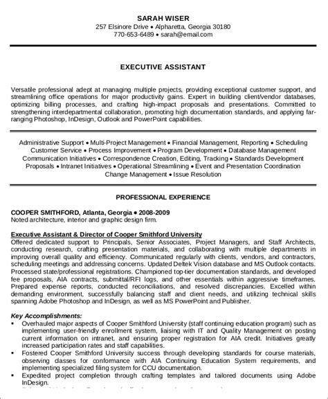 Resume Templates For Executive Administrative Assistant by 10 Administrative Assistant Resume Templates Pdf Doc