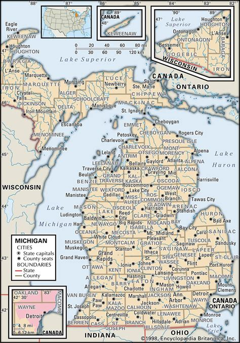 michigan maps state and county maps of michigan