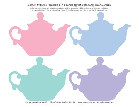 printable tea invitations template items similar to printable tea pot butterfly templates