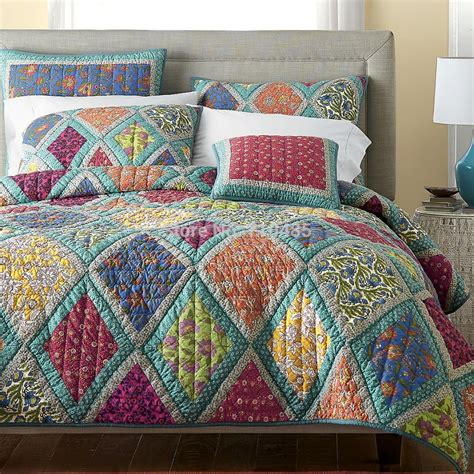 King Size Patchwork Quilts - free shipping autumn king size american style air