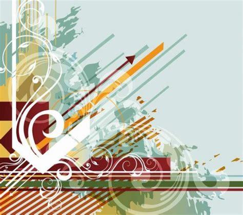 Wallpaper Modern Flower Dasar modern abstract swirl floral vector background welovesolo