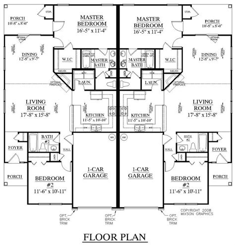 southern heritage home designs duplex plan 1261 a southern heritage home designs duplex plan 1196 c
