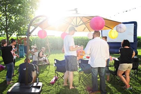 how to light up a backyard party outdoor movie party ideas movie night birthday party