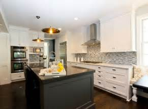 white kitchen island with black granite top black kitchen island contemporary kitchen refined llc