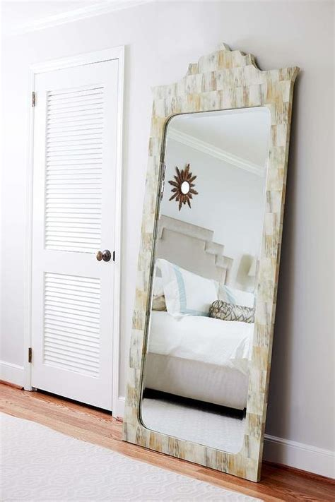 full length mirror in bedroom louvered cabinet doors cottage bedroom porchlight