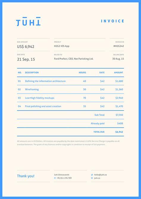 branding design invoice 50 creative invoice designs for your inspiration hongkiat