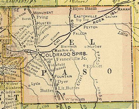 el paso county colorado map el paso county colorado maps and gazetteers