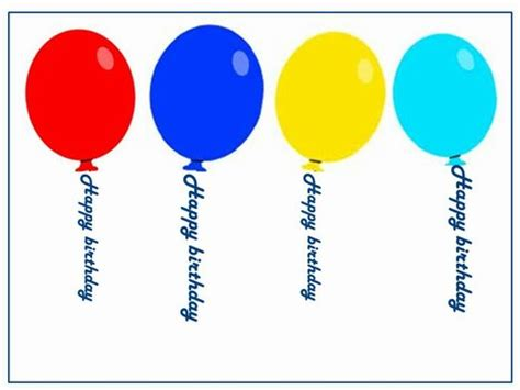 birthday card balloon template happy birthday balloons
