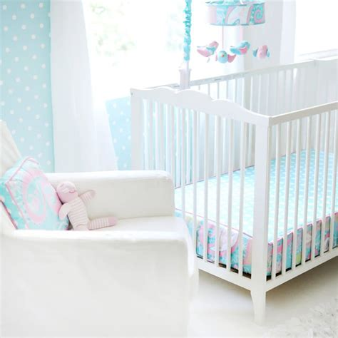 Pixie Baby In Aqua 3pc Crib Bedding Set By My Baby Sam My Baby Sam Crib Bedding