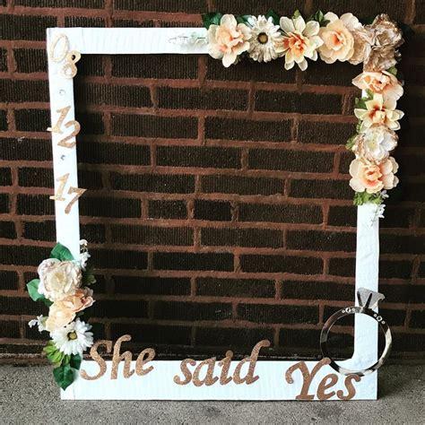 diy bridal shower photo booth frame bridal shower