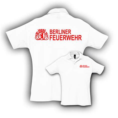 Berliner Feuerwehr Aufkleber by Poloshirt Bf Wei 223 Hauptstadtfeuerwehr
