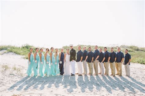 marvelous military beach wedding in north