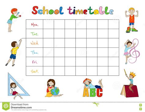 Kid Schedule Template by 59 Daily Time Table For 25 Best Ideas About Daily