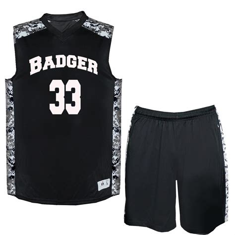 jersey design basketball camouflage badger youth digital camo attack basketball uniform
